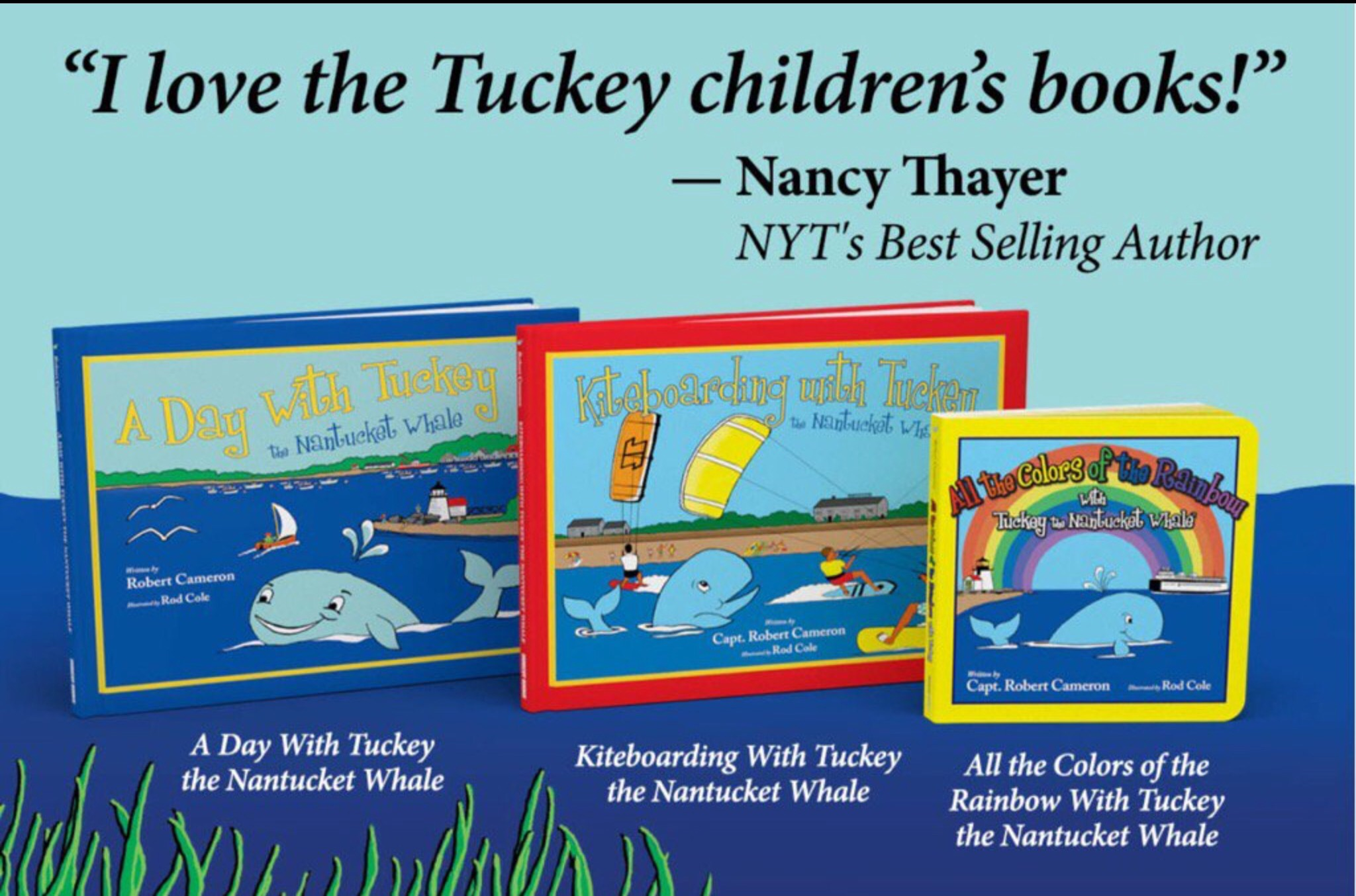 New York Times Best Selling Author loves Tuckey Books
